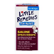 Little Remedies For Noses Saline Spray/Drops For All Ages