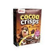 Meijer cocoa crisps SWEETENED CHOCOLATE FLAVORED RICE CEREAL WITH REAL COCOA