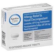 Signature Care Allergy Relief & Nasal Decongestant