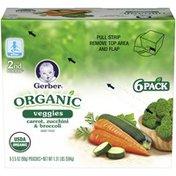 Gerber Organic 2 Nd Foods Veggies Carrot Zucchini & Broccoli Baby Food