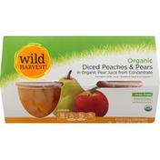 Wild Harvest Peaches & Pears, Organic, Diced