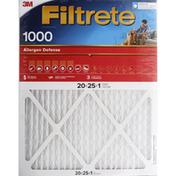 3M Air FilterAir Filter, Electrostatic, Allergen Defense 1000