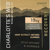 Charlotte's Web Recovery, 10 mg, Gummies, Ginger Flavor