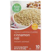 Food Club Cinnamon Roll Instant Oatmeal