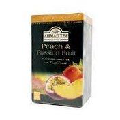 Ahmad Tea Peach & Passion Fruit Flavoured Black Tea With Fruit Pieces