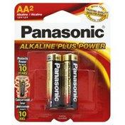 Panasonic Battery, Alkaline, AA2