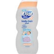 Dial Body + Hair Wash, Tear Free, Ages 2+, Peachy Clean