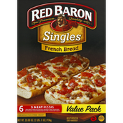 Red Baron French Bread Singles Three Meat Pizza