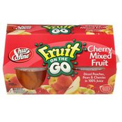 Shurfine Fruit On The Go, Cherry Mixed Fruit Diced Peaches, Pears & Cherries In 100% Juice
