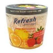 Refresh Your Car Fresh Strawberry/Cool Lemonade Car Odor Eliminaing Gel Can
