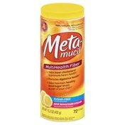 Metamucil Fiber Supplement, MultiHealth Fiber, Pink Lemonade Smooth, Sugar-Free, Powder