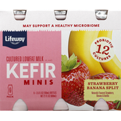 Lifeway Milk, Lowfat, Strawberry Banana Split, Cultured, 6 Pack