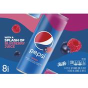 Pepsi Cola with Splash of Blueberry Juice Soda