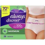 Always Discreet Underwear Xl