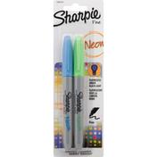 Sharpie Permanent Markers, Fine Point, Neon