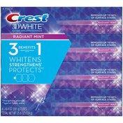 Crest 3D White Crest 3D White Radiant Mint Whitening Toothpaste 6.4 oz, 4 pack Dentifrice