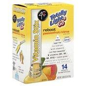 4C Foods Vitamin Enhanced Drink Mix, Vitamin Stix, Reboot, Passionfruit/Citrus