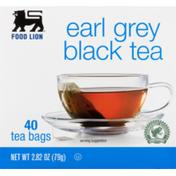 Food Lion Black Tea, Earl Grey, Tea Bags, Box