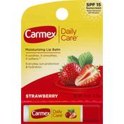 Carmex Lip Balm, Moisturizing, Strawberry, SPF 15