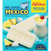 Helados Mexico Fruit Bars, Premium, Pina Colada
