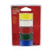 3M Scotch Assorted Colors Plastic Tape Rolls