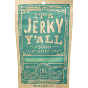 Its Jerky Y All Jerky, Plant-Based, Black Pepper & Sea Salt