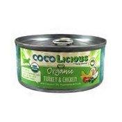 Cocolicious Organic Grain-Free Turkey & Chicken Wet Cat Food