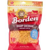 Borden Shredded Cheese Sharp Cheddar