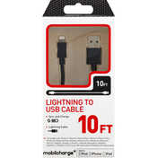Mobilcharge Lightning to USB Cable, 10 Feet