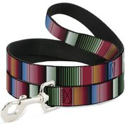 Buckle-Down 6' Zarape5 Vertical Multi Color Stripe Pet Leash