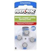 Rayovac Batteries, Hearing Aid, Size 675