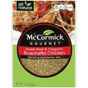 McCormick Gourmet™ Sweet Basil & Oregano Bruschetta Chicken Recipe & Seasoning Mix