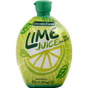 Concord Foods Juice, From Concentrate, Lime
