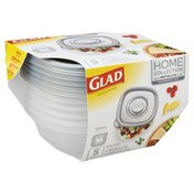 Glad Containers & Lids, Entree, Medium, Square, 25 Ounce