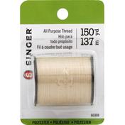 Singer Thread, All Purpose, Polyester, 150 Yard