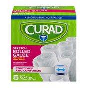 CURAD Stretch Rolled Gauze - 5 CT