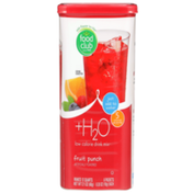 Food Club +H2O, Fruit Punch Low Calorie Drink Mix