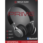 Replay Audio Stereo Headphones, Prime, Wireless, Pre-Priced $29.99, Box