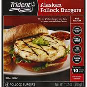 Trident Seafoods Pollock Burgers, Alaskan