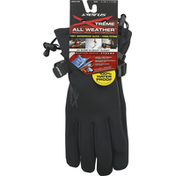 Seirus Gloves, All Weather, Gauntlet, Black, Extra Large, Mens