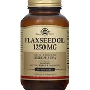 Solgar Flaxseed Oil, 1250 mg, Softgels