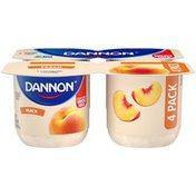 Dannon Whole Milk Peach Yogurt