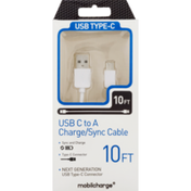 Mobilcharge USB Type-C Cable, Charge/Sync