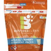 Boulder Clean Laundry Detergent, Natural, Valencia Orange, Liquid Packs