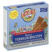 Earth's Best Biscuits, Toddler, Organic, Wheat, 12 Months and Older