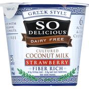 So Delicious Coconut Milk, Cultured, Greek Style, Strawberry