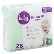 Baby Basics Diapers, 4 (22-37 lb), Flexible Fit