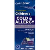CareOne Children's Cold & Allergy Grape Flavor