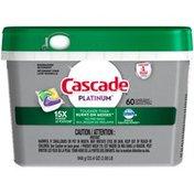 Cascade Platinum ActionPacs Dishwasher Detergent, Lemon Scent Cascade Platinum ActionPacs Dishwasher Detergent, Lemon Scent