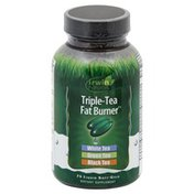 Irwin Naturals Triple-Tea Fat Burner, Liquid Soft-Gels